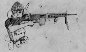 Suppressive Fire, from Helga by Naotachai