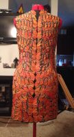 Effie Trinket butterfly dress progress by donttouchmymilk