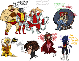 Mini Marvel Sketch Dump 4 by Squidbiscuit