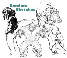 Some Random Sketches by RAHeight2002-2012