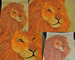 Lion Watercolor by Labluvr