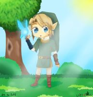 Chibi Link in the Forest by linkinounet62