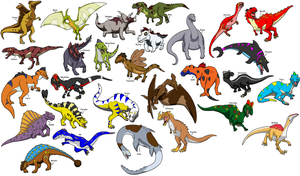 Dino Squad character collage by Bluedramon