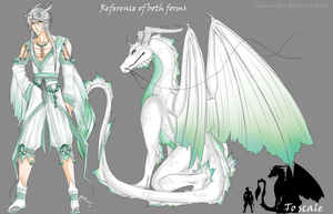Ryuu reference -both forms- by Chibi-godess
