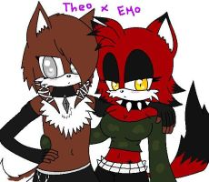 Theao and Emo by emo2the3fox