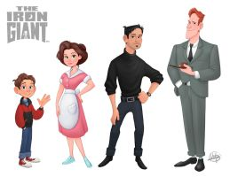Iron Giant Line Up by LuigiL