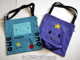 BMO and LSP Tote Bags by shiroiyukiko