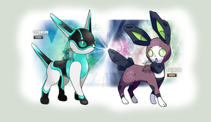 Fake Rock and Steel Eeveelutions by Tails19950
