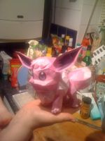 paperpokes evee in pink by medicman4444