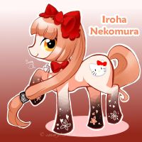 Vocaloid Pony: Iroha Nekomura by canarycharm