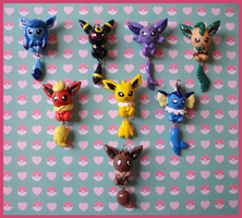 Chibi-Charms: Pokemon Eeveelutions by MandyPandaa