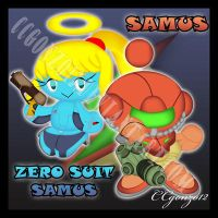Samus and Zero Suit Samus Chao by CCgonzo12