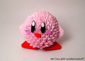 Kirby in Origami by SaKoji