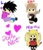 Death Note Sanrio Style CoLoR by Secret-Agent-Honey