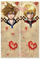 Sora and Roxasy by JohnYume
