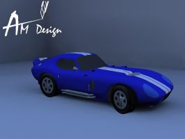 Shelby cobra daytona inspired Papercraft 2 by Alejandr0-M