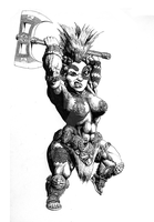 Female Dwarf Slayer (2013) by KnightInFlames