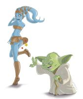 dirty old yoda (colour) by Hackman23
