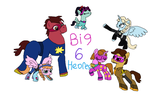 Big 6 Heroes Ponies by Dulcechica19