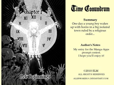 Time Conundrum Chapter 1 Cover by Allenwalker14