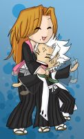 Bleach - Hitsugaya and Rangiku by jewelschan