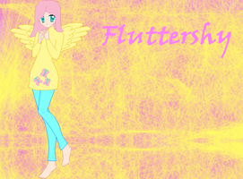 Human Fluttershy REDESIGN by Marshmellow334