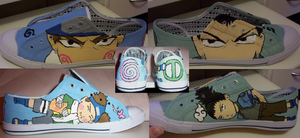 Shikamaru-Chouji custom shoes by Bexlyte