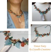 Forest Fairy Necklace by CrysallisCreations