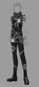[Closed] Auction BW Outfit male 17 by YuiChi-tyan