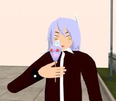 MMD Eating by Veska3if