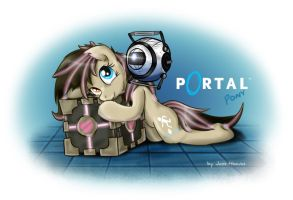 Portal Pony by JcosNeverExisted