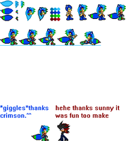 Sunnythehedgehog217 sprites updated by red-flashTH18