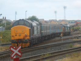 DRS/NT 37 409 and 37 423 at Barrow-in-Furness by BoomSonic514