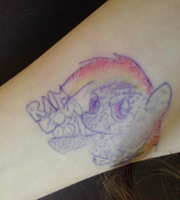 Rainbow dash BPN tattoo by xXStrawberryxMisaXx