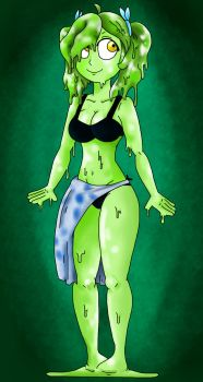 Lime Goo Girl by AlduinGijinka