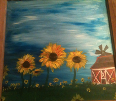 Sunflowers on Glass by Jinsmadventure
