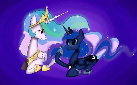 Celestia and Luna by retrokidz