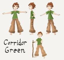 Corridor Green Model Sheet by Evergreena