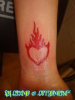 Red Heart w- Flames by GetSomeInk