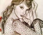 Taylor Swift Pencil Drawing by xXhayleyroxXx