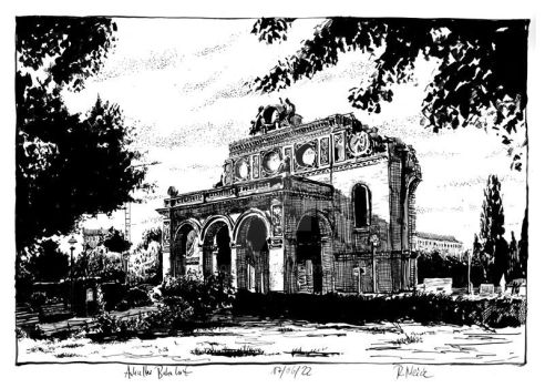The ruin of the railway station Anhalter Bahnhof by RoodyN