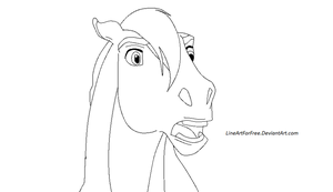Free Stallion Lineart by LineArtForFree