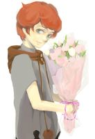 the Boy better then Flower by Liche1004