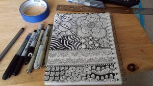 today(9/25/2014) zendoodle by meowlodee