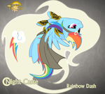 Night Caste Rainbow Dash by Rhanite