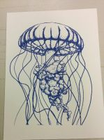 Jellyfish Screen Print by ThatGirlThatDraws