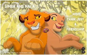 Simba and Nala by LillayFran