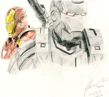 Iron Man and War Machine by AviArts