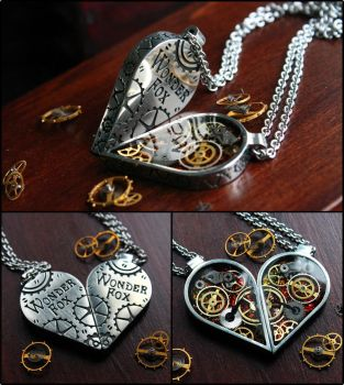 Half heart necklaces by Wonder-fox