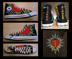 Broken Heart Chucks by sirris